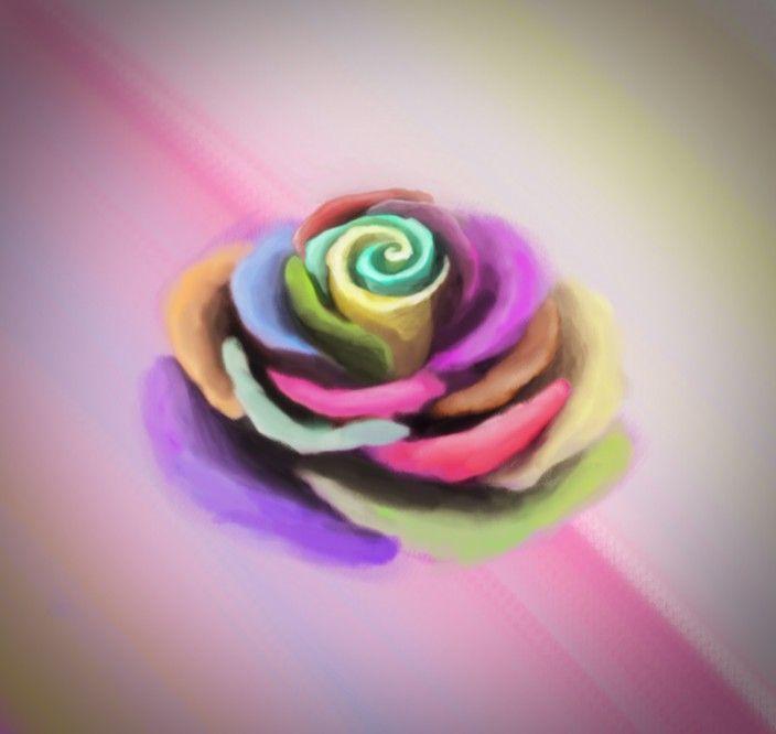 وردة الجوري ملونة Desserts Icing Food