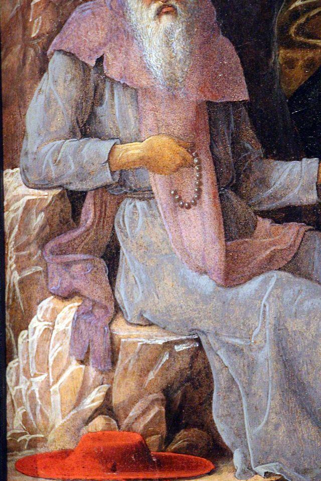 Andrea mantegna, san girolamo penitente nel deserto