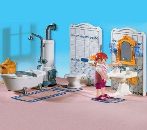 Playmobil Bathroom By Playmobil. $41.01. The Woman Washes Up Before Bed In  Her Bathroom