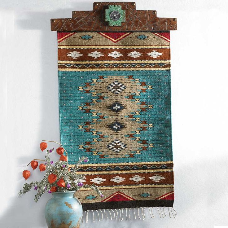 Zapotec Turquoise Runner From King Ranch Saddle Shop Traditional Southwestern Color
