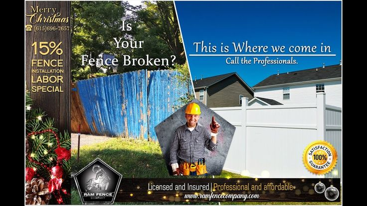 Is your fence broken?, This is where we come in, call the professionals.