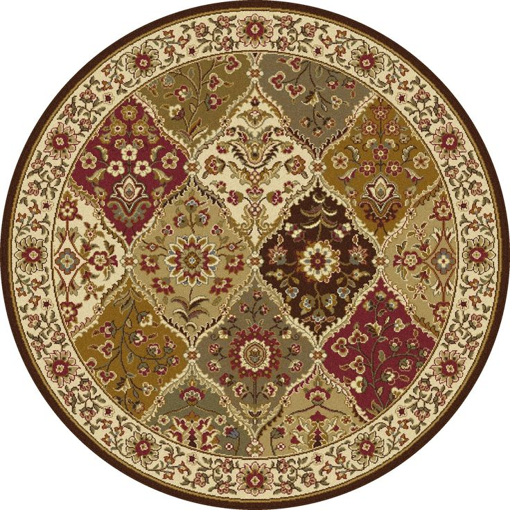 Alise Rhythm Multi Traditional Area Rug (7'10 Round) (Plastic, Abstract)