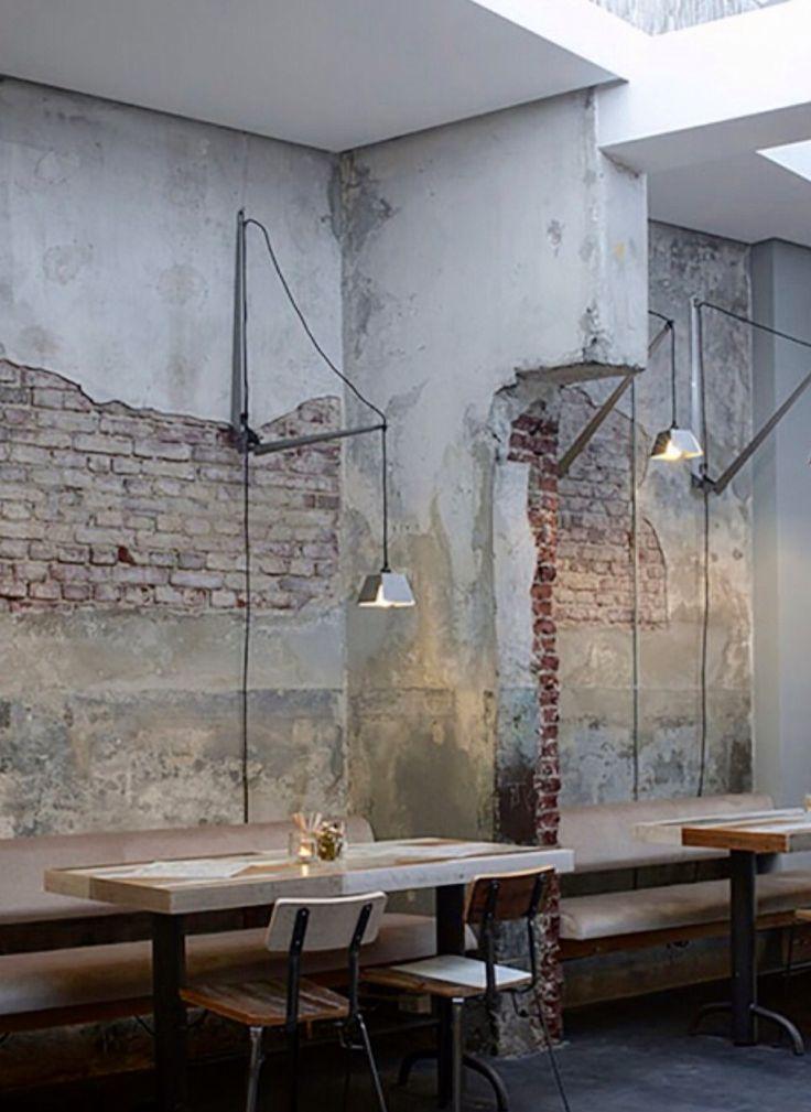 CON BUENAS MATAS Y CUADROS Y OTRAS LAMPARAS SE VERIA LINDO. Bakkerswinkel Café by Piet Hein Eek, Rotterdam