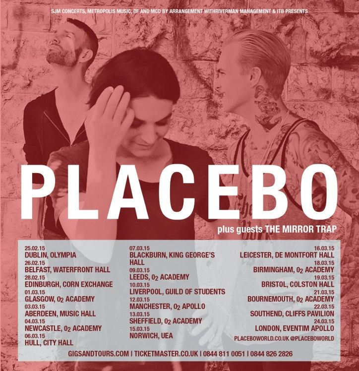 Tickets for Placebo's massive UK tour are on sale now. Tickets and tour info available at: www.gigsandtours.com