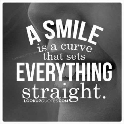 Some of the deepest friendships and strongest lifetime relationships have all started with a simple smile. . #smile #quotes Continue Reading -) http://www.lookupquotes.com/picture_quotes/a-smile-is-a-curve-that-sets-everything-straight/41799/