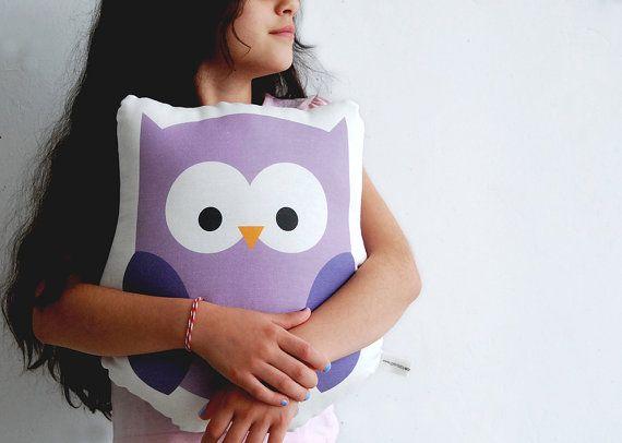 Stuffed animal purple owl plushy cotton soft pillow Children