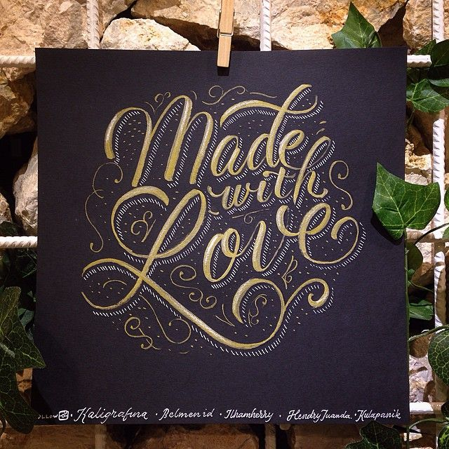 Lettering for Made With Love, scrapbook retail store in Indonesia. by ilhamherry