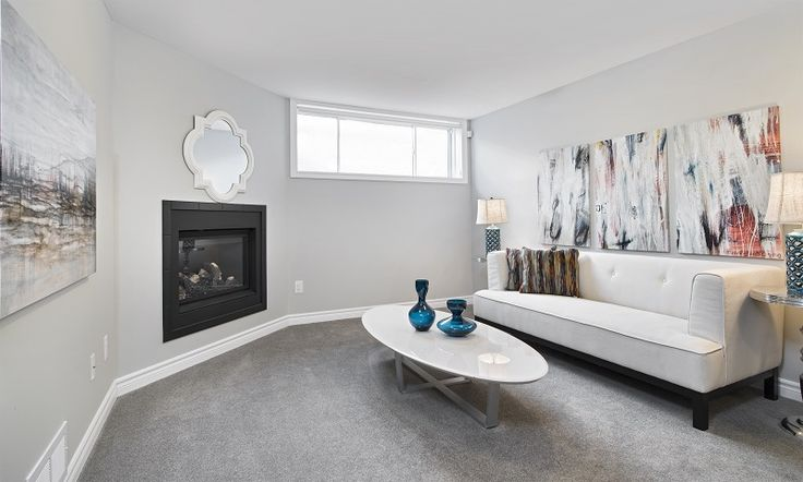 This is the included finished basement in our  former Topaz townhome model in Ottawa South at our Findlay Creek community.