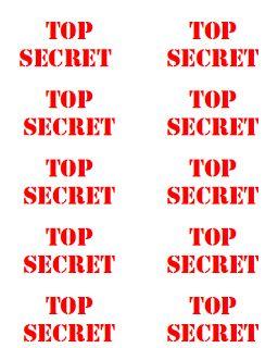 top secret printable lables