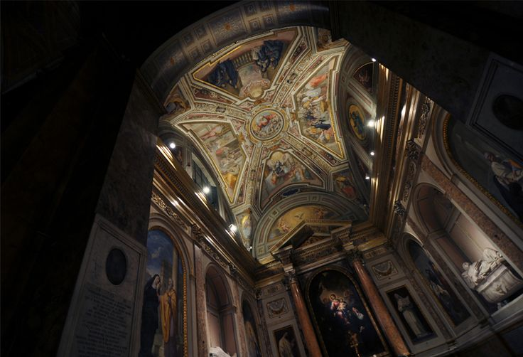 Church lighting project by Claudia Giacomobello | Cappella di S.Monica @ Basilica di S.Agostino, Campo Marzio, Roma #ledlab #lightingdesigners #lighting #CreativeGallery #rome