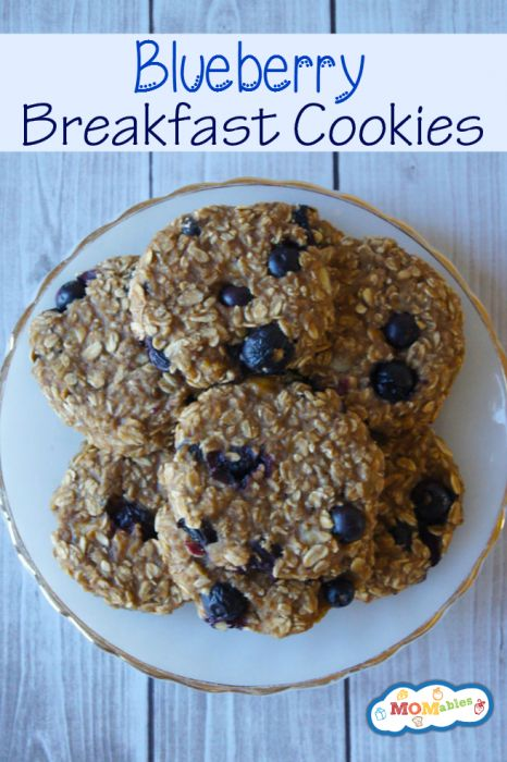2 ripe bananas, smashed 4oz container of unsweetened all-natural applesauce 1½ cups old fashioned oats ½ teaspoon vanilla ½ cup blueberries Bake 20-25 min. at 350