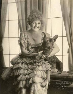 French Courtisan with her French Bulldog, 1890.
