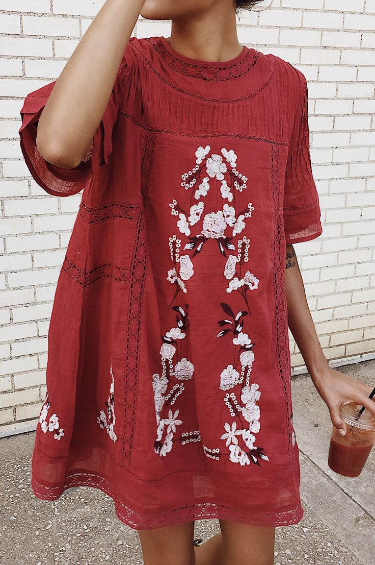 #summer #outfits #LTKsalealert One Of My Favorite Pieces From The @nordstrom Sale - This Dress Is $109 And Comes In White And Black Too, But I Got The Red To Match My Beet Juice