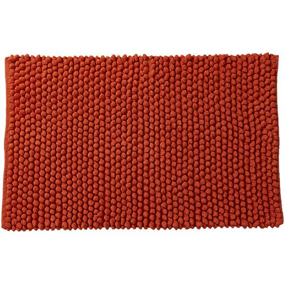 cirrus orange bath mat | CB2