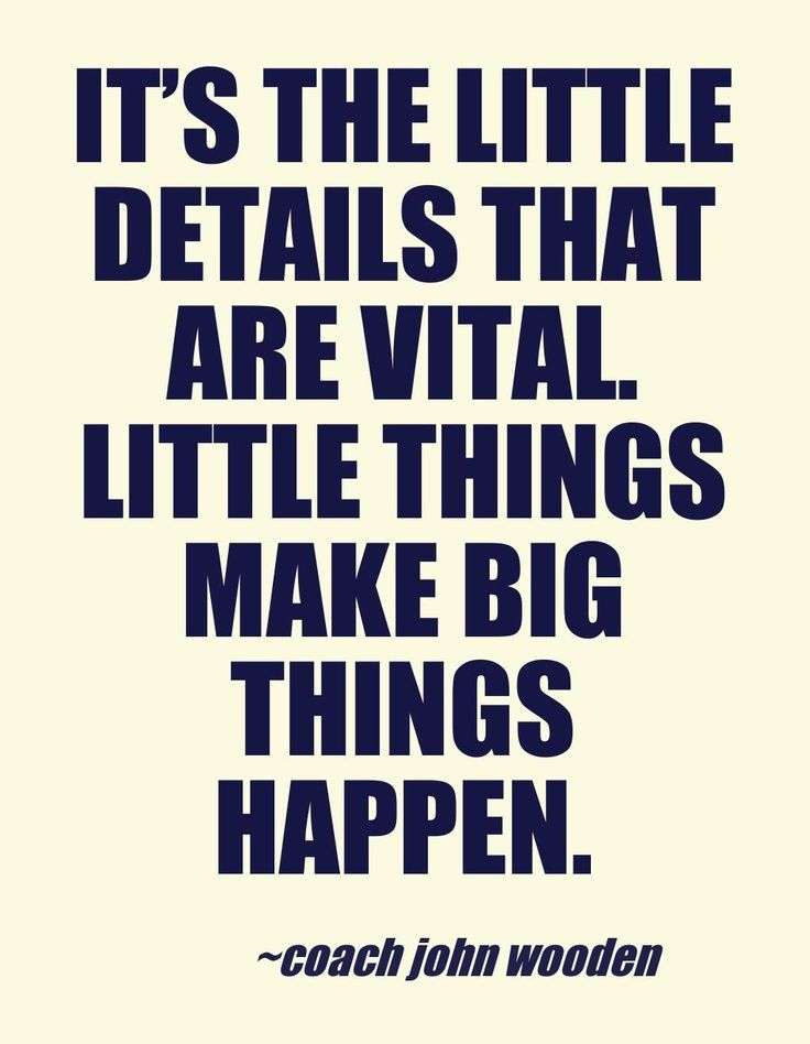 Coach John wooden #quotes: Little #details make the difference | #LaRimonta #Jewels