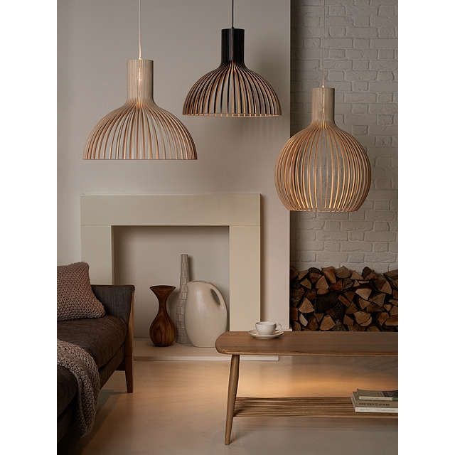 BuySecto Victo Ceiling Light, Birch Online at johnlewis.com
