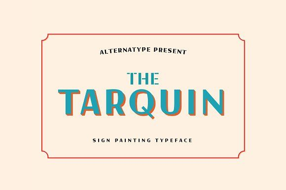 Tarquin Typeface by akufadhl on @creativemarket