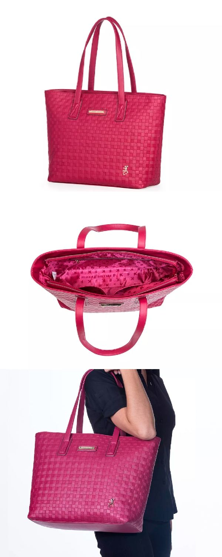 ba919eb73 Bolsa Feminina Felipe Krein Alça Ombro Grande Cereja Vermelha Cheia de  estilo, é perfeita para colocar as comprinhas, carteira, livr…
