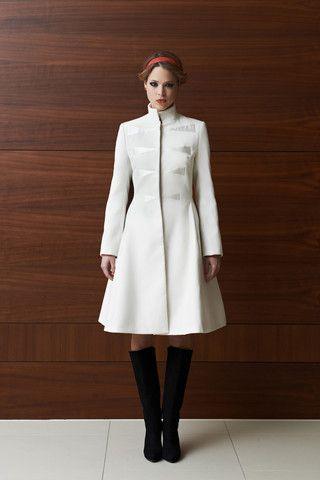 Tulipani Rossi off-white winter coat | LACCA Fashion