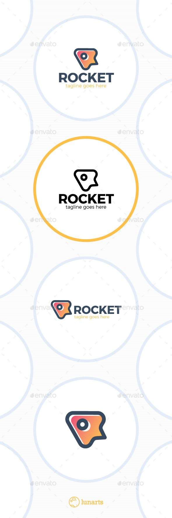 Simple Rocket Logo — Vector EPS #agency #creative • Available here → https://graphicriver.net/item/simple-rocket-logo/13436423?ref=pxcr