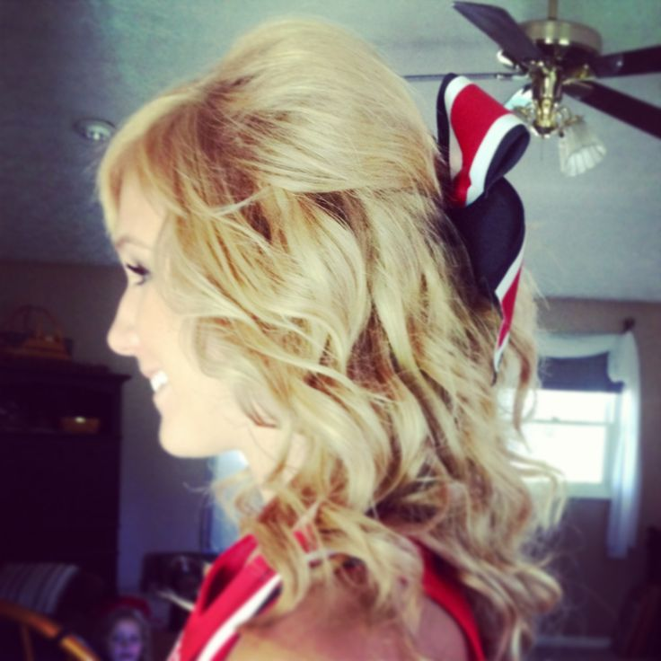 Cheer hair :) going to try this!
