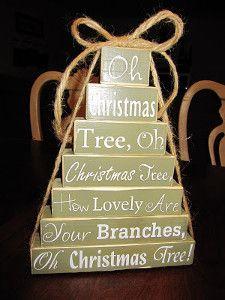 Oh Christmas Tree Blocks
