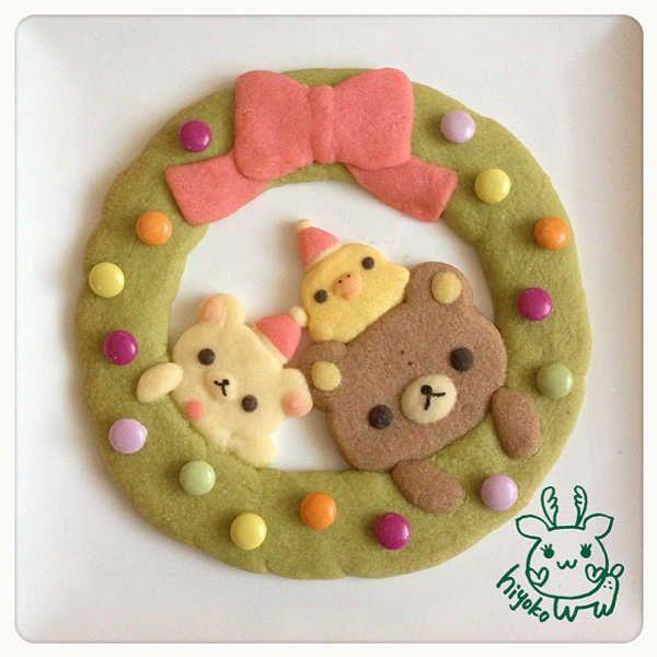 クリスマスリースクッキー。