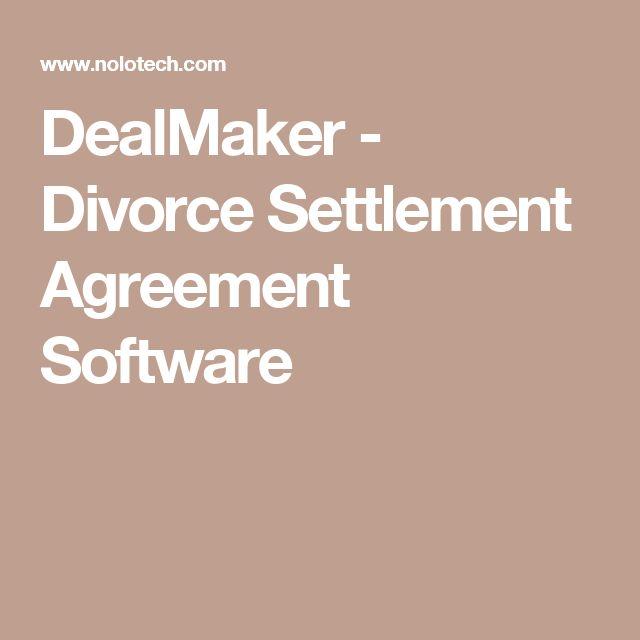 DealMaker - Divorce Settlement Agreement Software