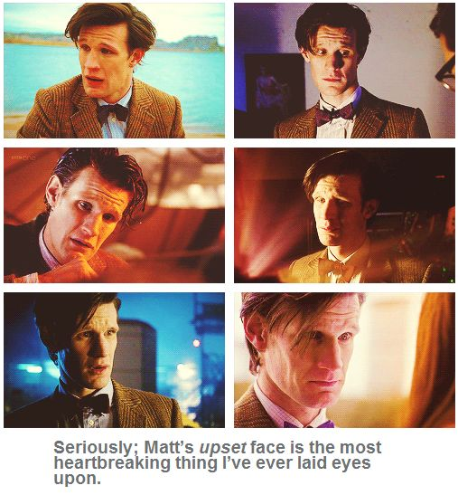 Matt's upset face is the most heartbreaking thing I've ever laid eyes upon.>> NEVER BE SAD EVER