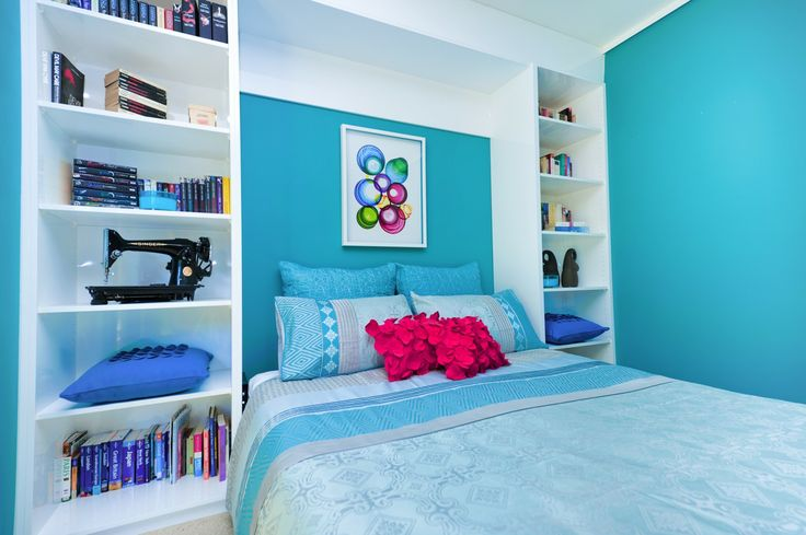 Simply fold this cleverly designed wall-bed away into the wall when your visitors leave.