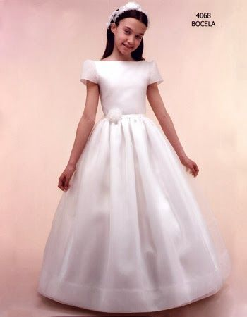vestidos de primera comunion para ninas delgadas