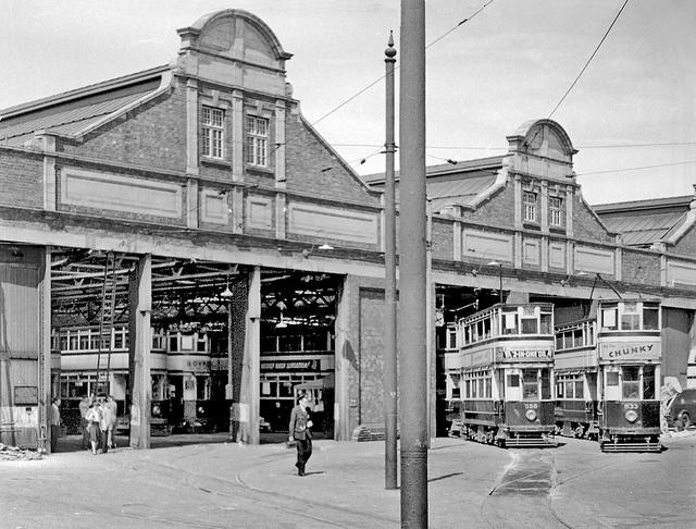 Selly Oak tram Depot by geoff7918, via Flickr