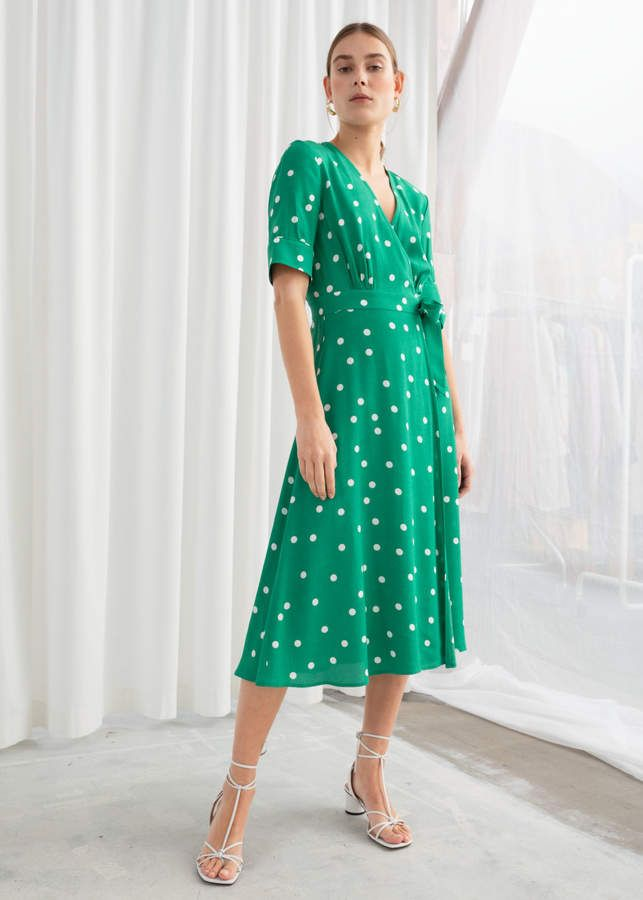 2369d0fa4c4d And other stories Polka Dot Midi Wrap Dress in 2019 | Saint ...