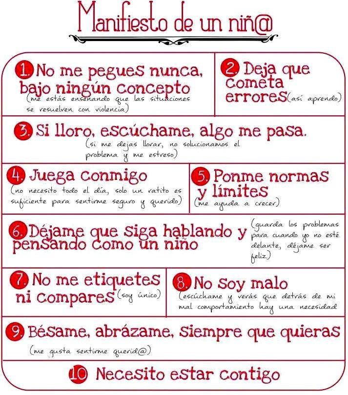 Manifiesto de un(a) niñ@
