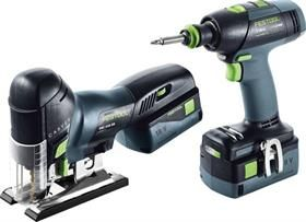 Festool Cordless drill and pendulum jigsaw assembly package Li 18 T 18+3/PSC 420 Li 5,2-Set 201404