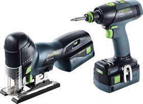Festool Cordless drill and pendulum jigsaw assembly package Li 18 T 18+3/PSC 420 Li 5,2-Set 201404