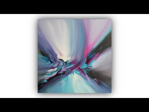 Abstract Painting Techniques / Acrylic / Spatula / Easy / Demo # 009 – YouTube