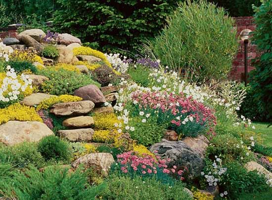 78 ideas about rock flower beds on pinterest for Rock landscaping ideas