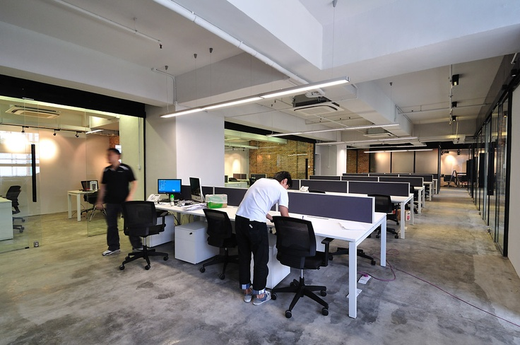 Industrial Style Office In Hong Kong
