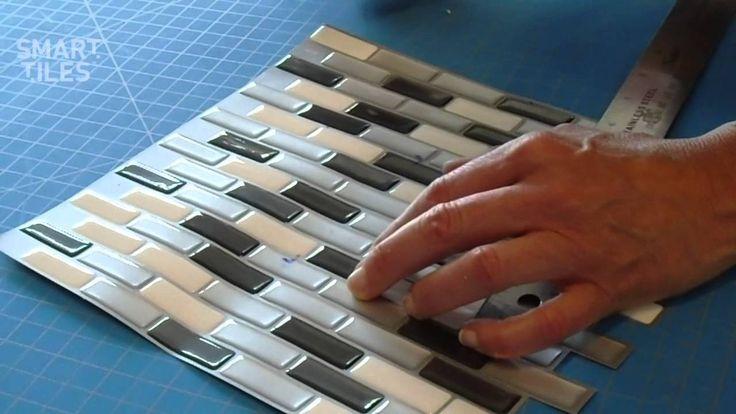 Peel and Stick Smart Tiles Backsplash Installation Video – Interlocking ...
