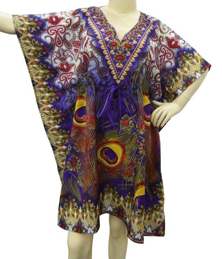 Beautiful Abstract print Short kaftan/dress. ..this is img