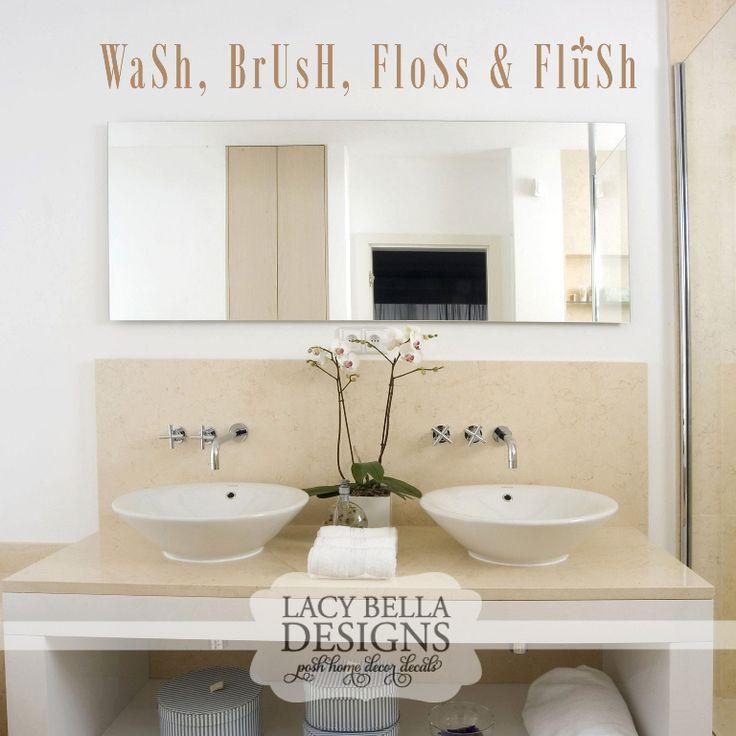 61 best Bathroom Decals images on Pinterest