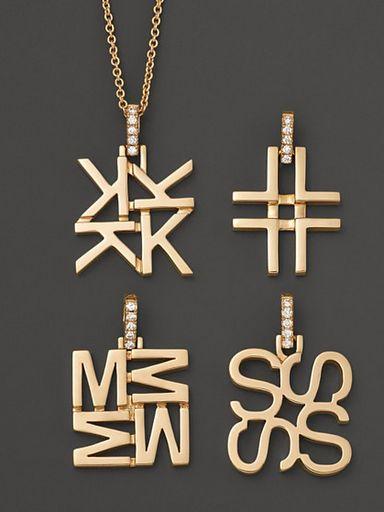 India Hicks Jewelry Initial Pendants