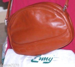 Beauty ENNY Italy Vintage Crossbody Handbag Carmel Brown Napa Leather Purse  | eBay