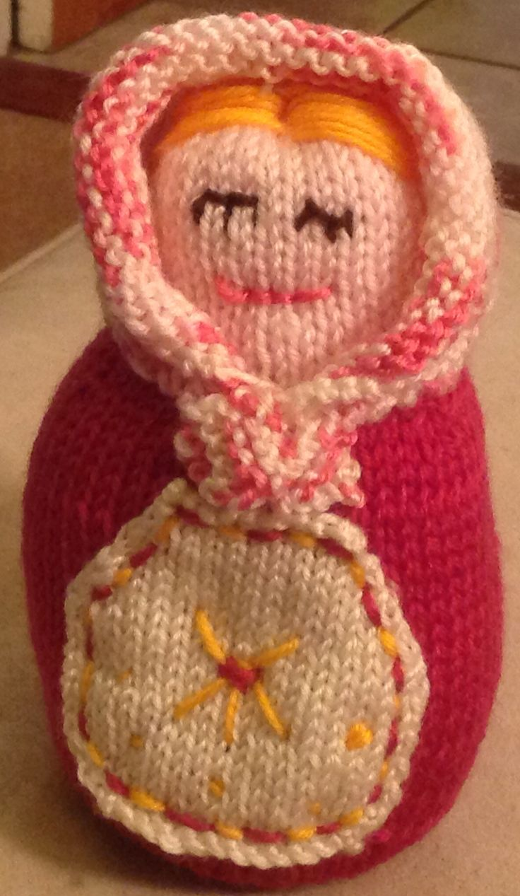 Another Russian doll visit by Julie Farmer. Pattern from knitting magazine.