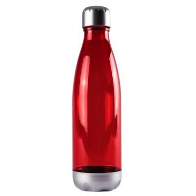 Image of Printed Fizzy Tritan Water Bottle, Milk Shaped Bottle 670ml Red