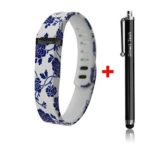 Smart Tech Store Blue Flower Drawing on White Replacement Band With Clasp for Fitbit FLEX Only /No tracker/ Wireless Activity Bracelet Sport Wrist band Fit Bit Flex Bracelet Sport Arm Band Armband (Small) Smart Tech http://www.amazon.com/dp/B00SCOSL84/ref=cm_sw_r_pi_dp_WM0xvb0HK6921