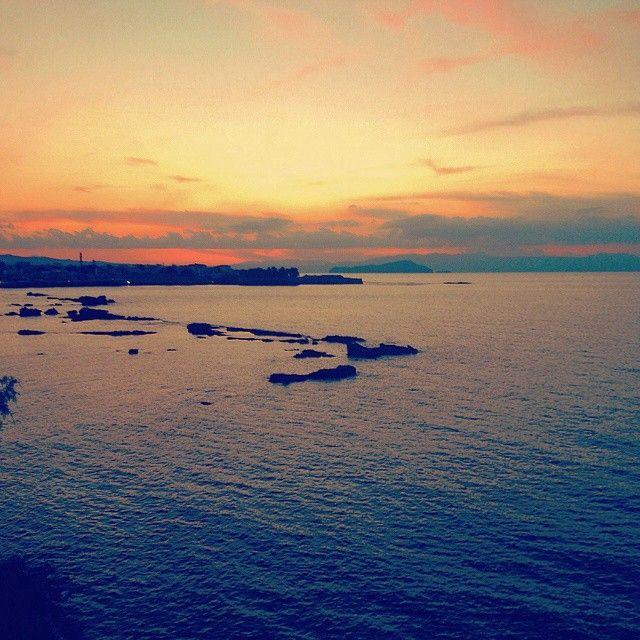 #Sunset #Chania #Greece Photo credits: @koutmatzan