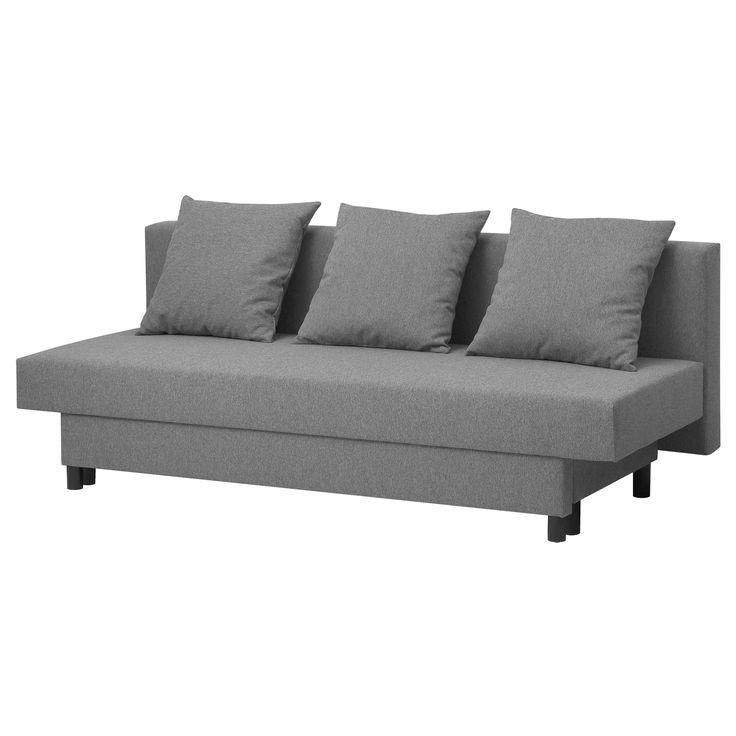 IKEA - ASARUM, Divano letto a 3 posti, Si trasforma facilmente in un letto.Nel contenitore sotto il sedile puoi organizzare, per esempio, la biancheria da letto.