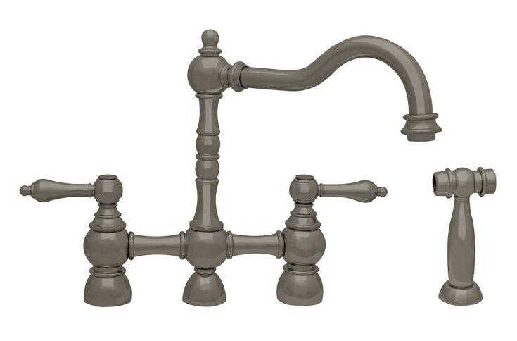 Pewter Kitchen Faucet Fixtures : Best images about bridge kitchen faucets on pinterest